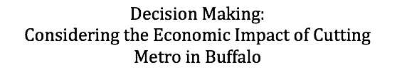 Text Box: Decision Making:           Considering the Economic Impact of Cutting Metro in Buffalo